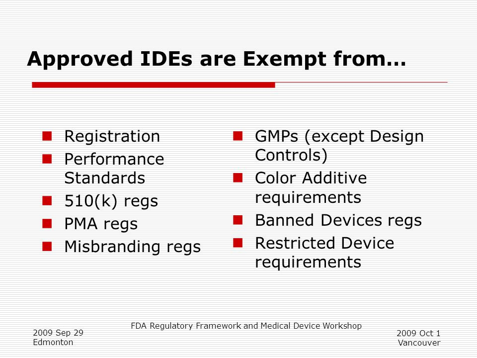 Approved IDEs are Exempt from…