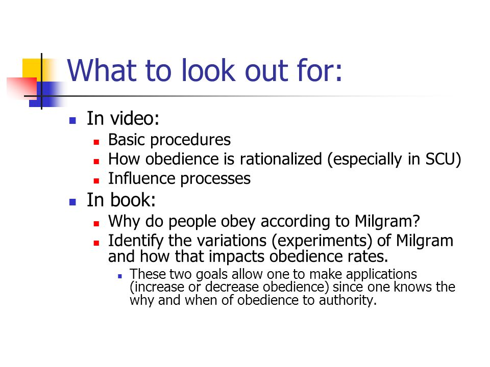 What to look out for: In video: In book: Basic procedures