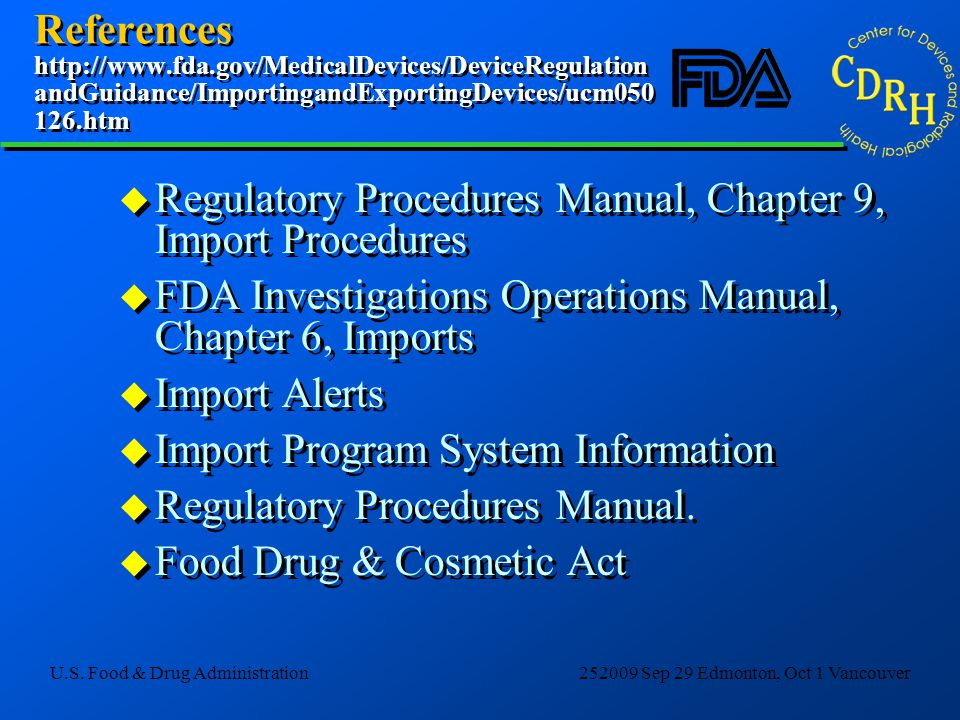 References http://www. fda