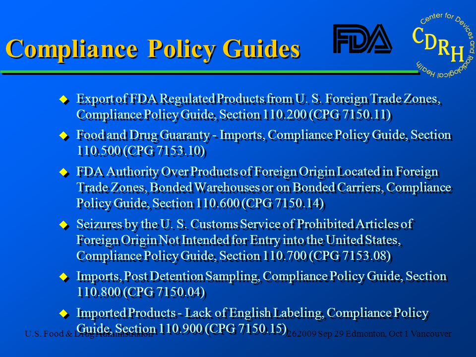 Compliance Policy Guides