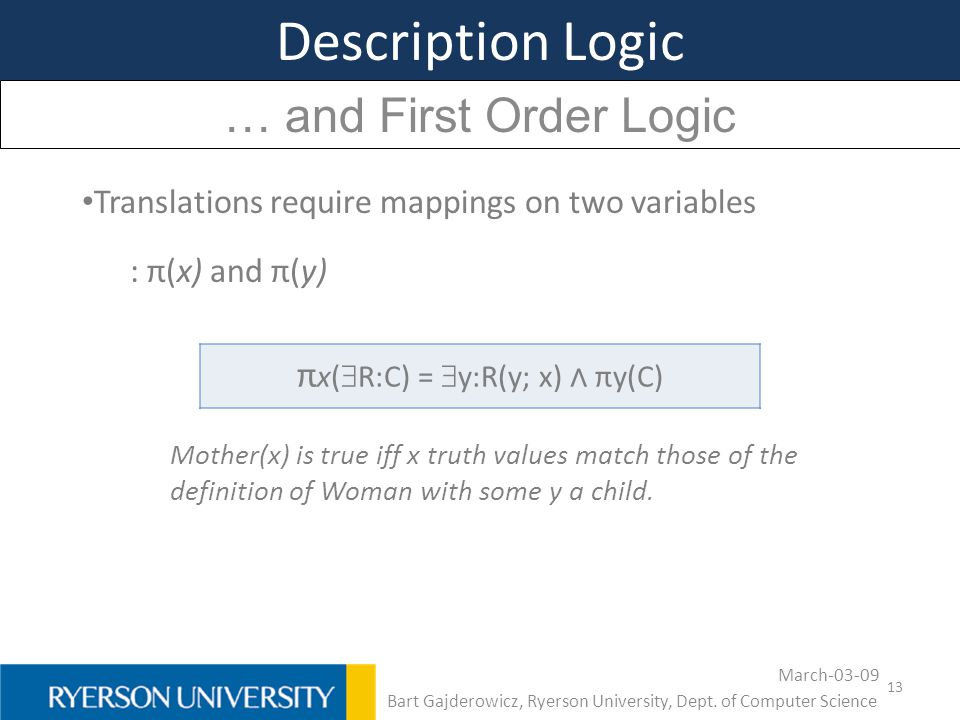 Description Logic … and First Order Logic