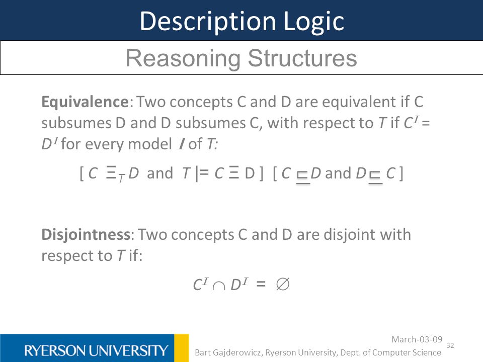 Description Logic Reasoning Structures