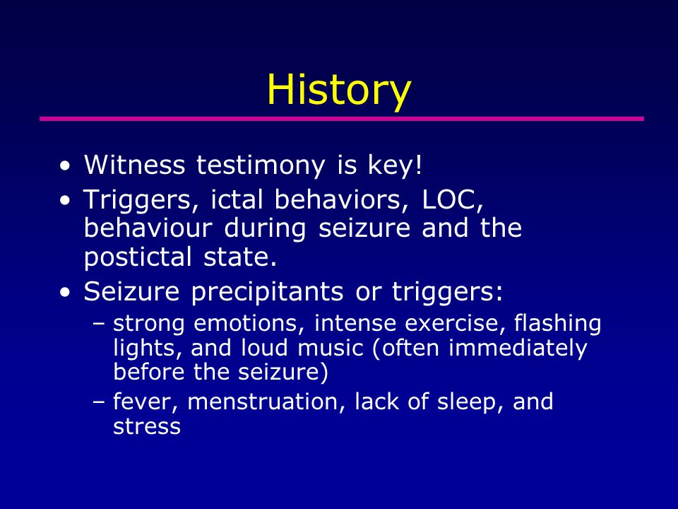 History Witness testimony is key!