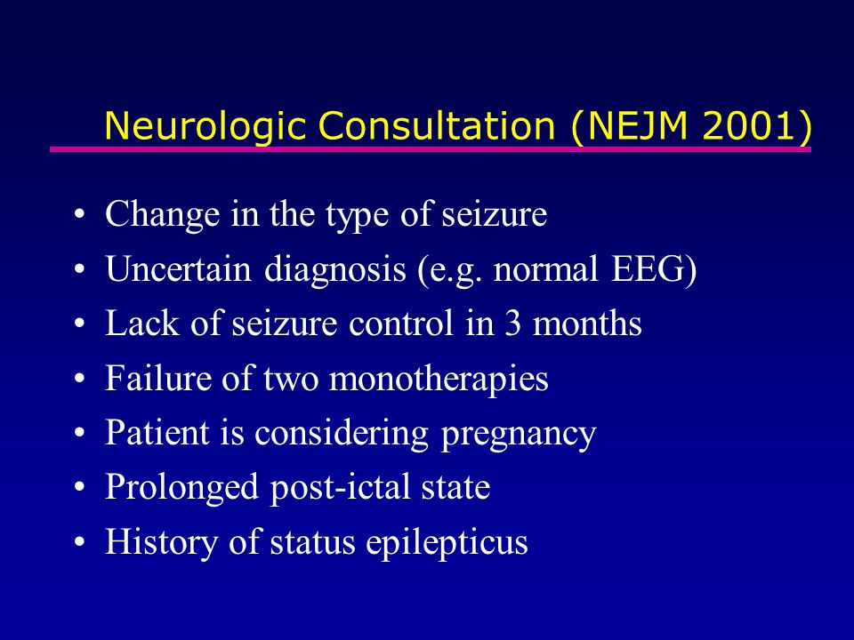 Neurologic Consultation (NEJM 2001)