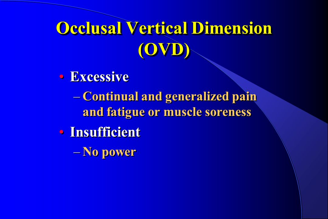 Occlusal Vertical Dimension (OVD)