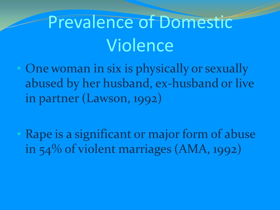 Prevalence of Domestic Violence