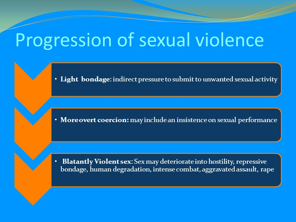 Progression of sexual violence