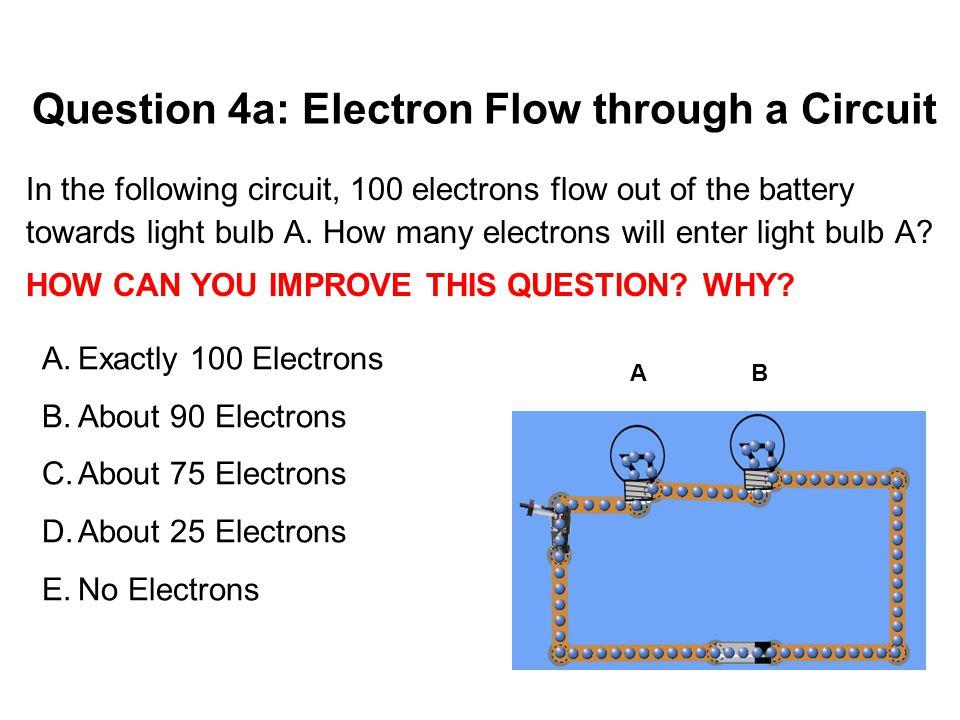 Question 4a: Electron Flow through a Circuit