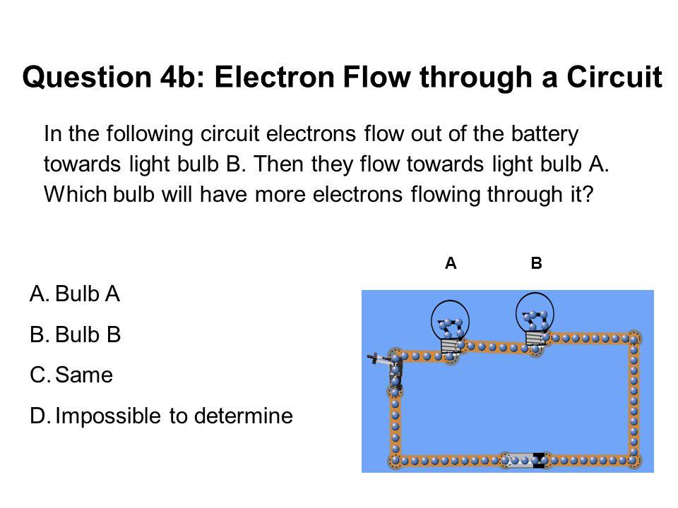 Question 4b: Electron Flow through a Circuit