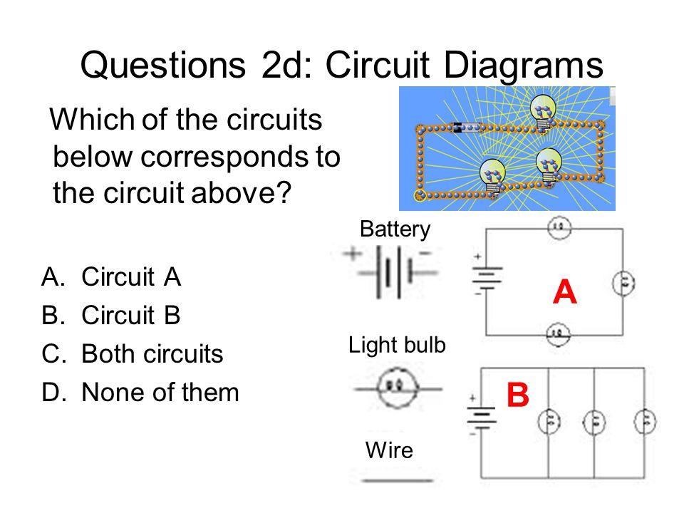 Questions 2d: Circuit Diagrams