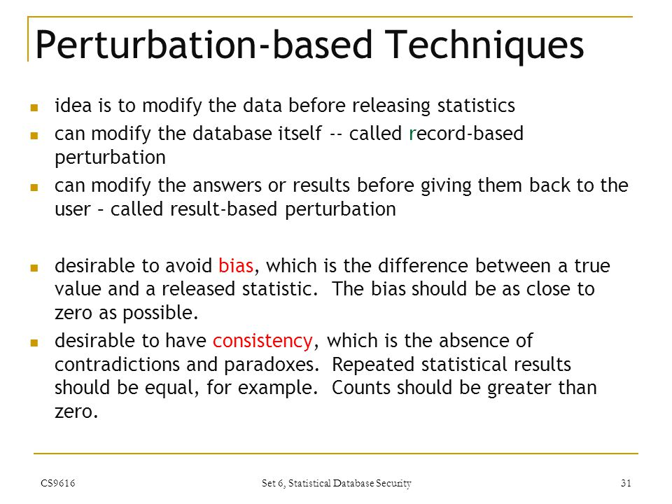 Perturbation-based Techniques