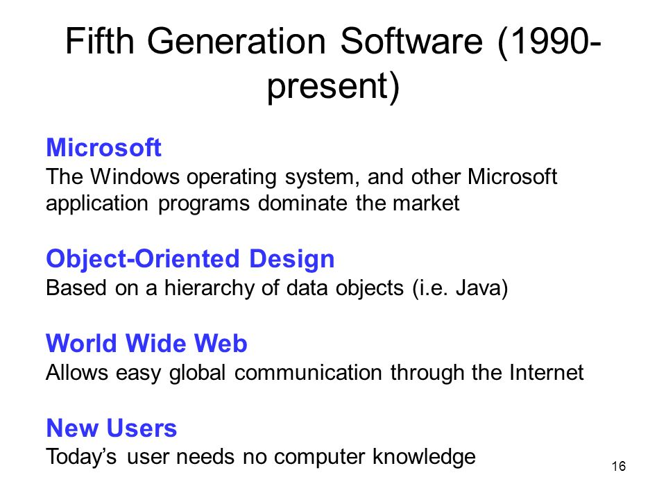 Fifth Generation Software (1990- present)