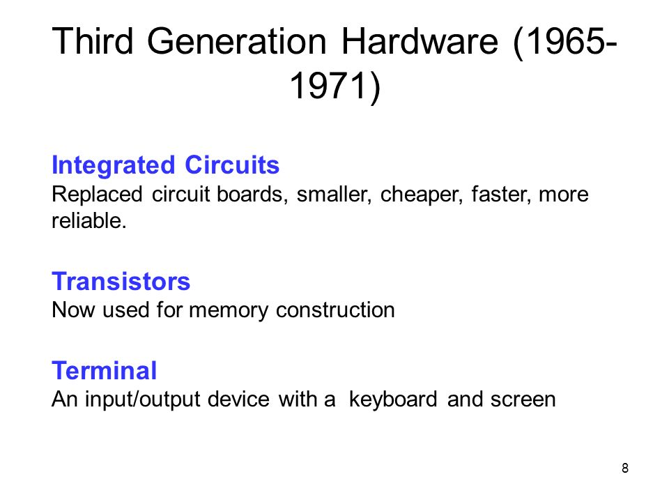 Third Generation Hardware ( )