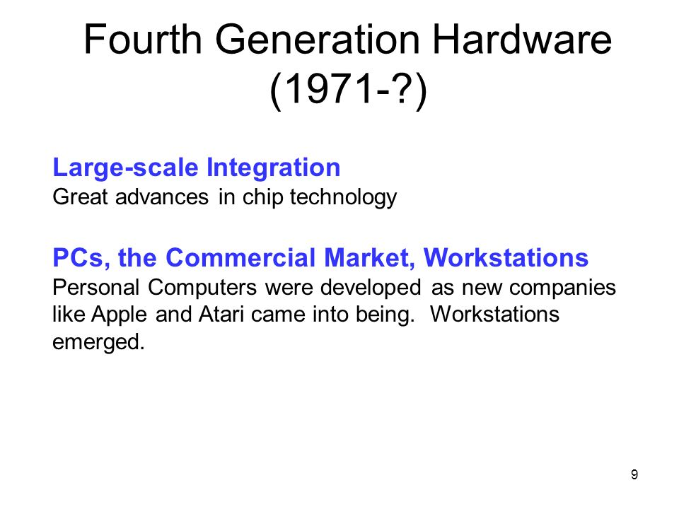 Fourth Generation Hardware (1971- )