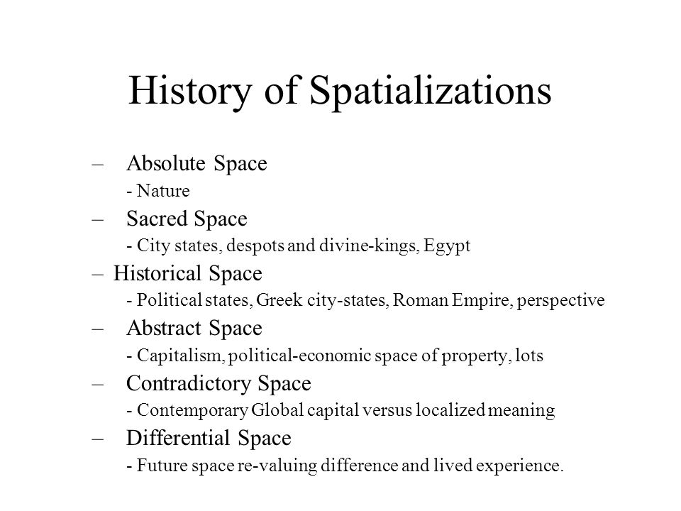 History of Spatializations