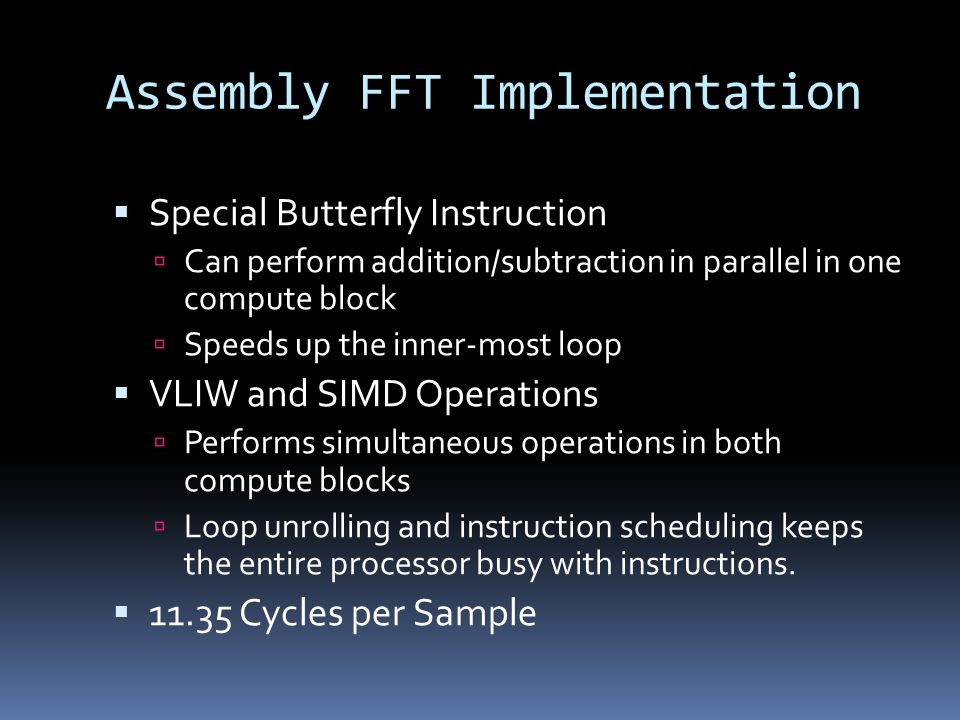 Assembly FFT Implementation