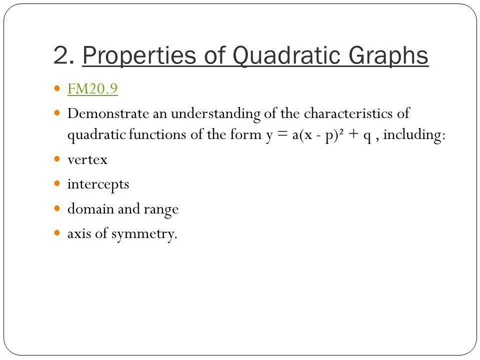 2. Properties of Quadratic Graphs
