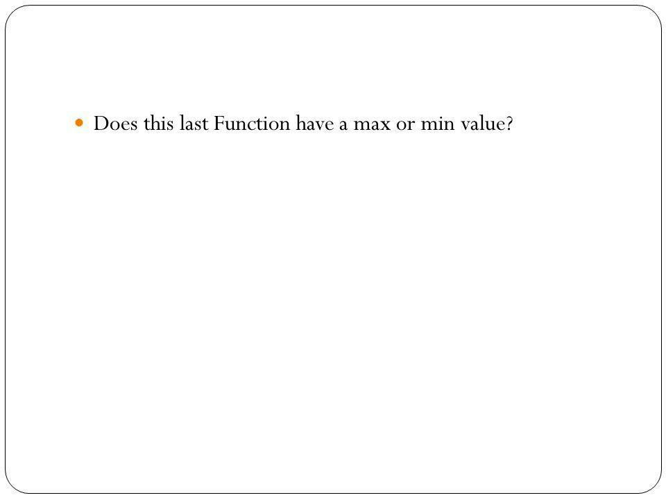 Does this last Function have a max or min value
