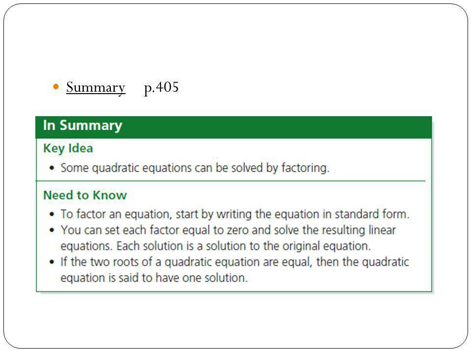 Summary p.405