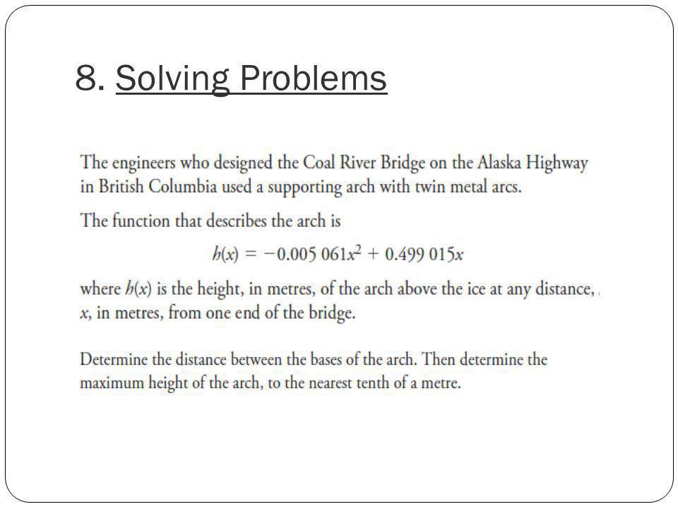 8. Solving Problems