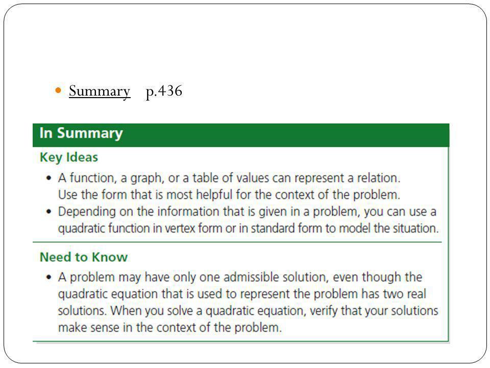 Summary p.436