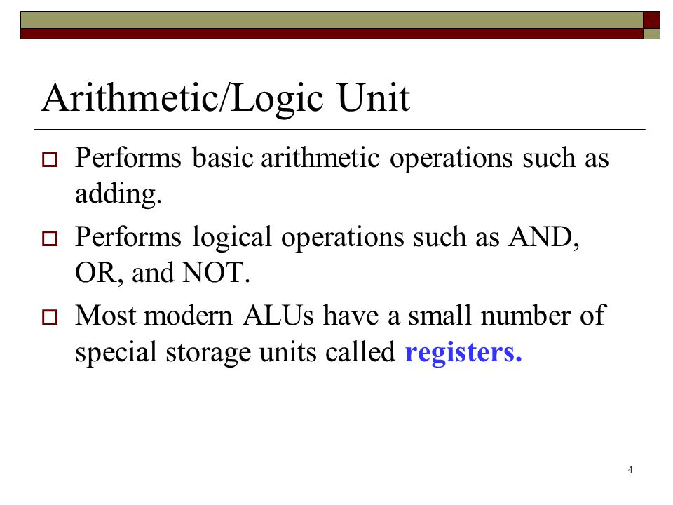 Arithmetic/Logic Unit