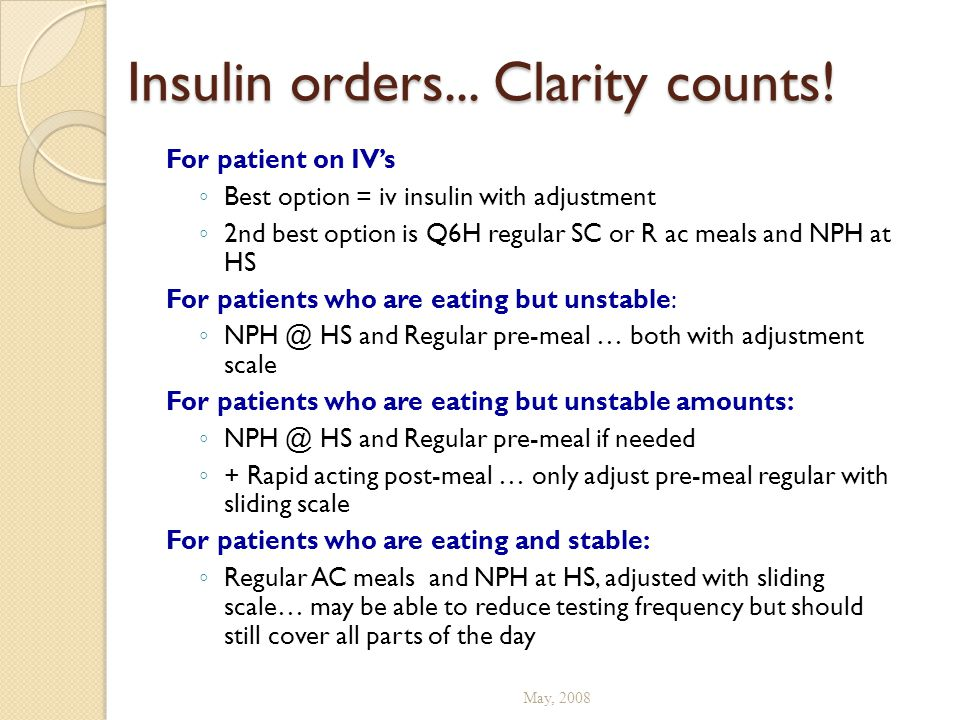 Insulin orders... Clarity counts!