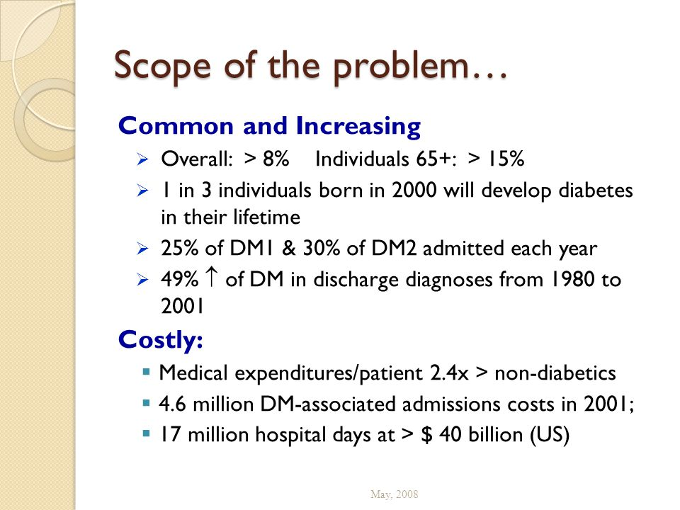 Scope of the problem… Common and Increasing Costly: