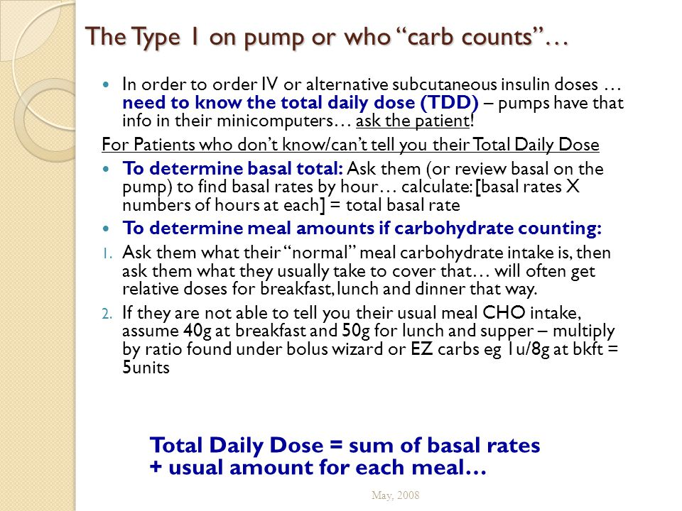 The Type 1 on pump or who carb counts …