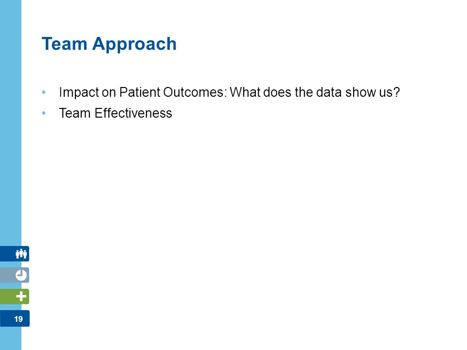 Team Approach Impact on Patient Outcomes: What does the data show us