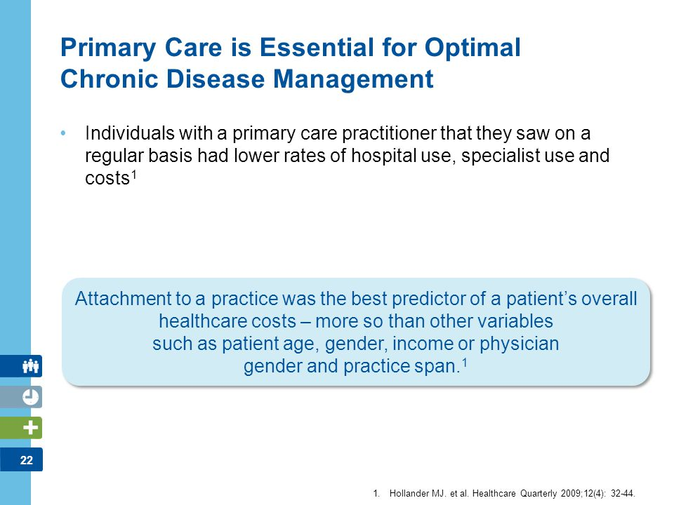 Primary Care is Essential for Optimal Chronic Disease Management