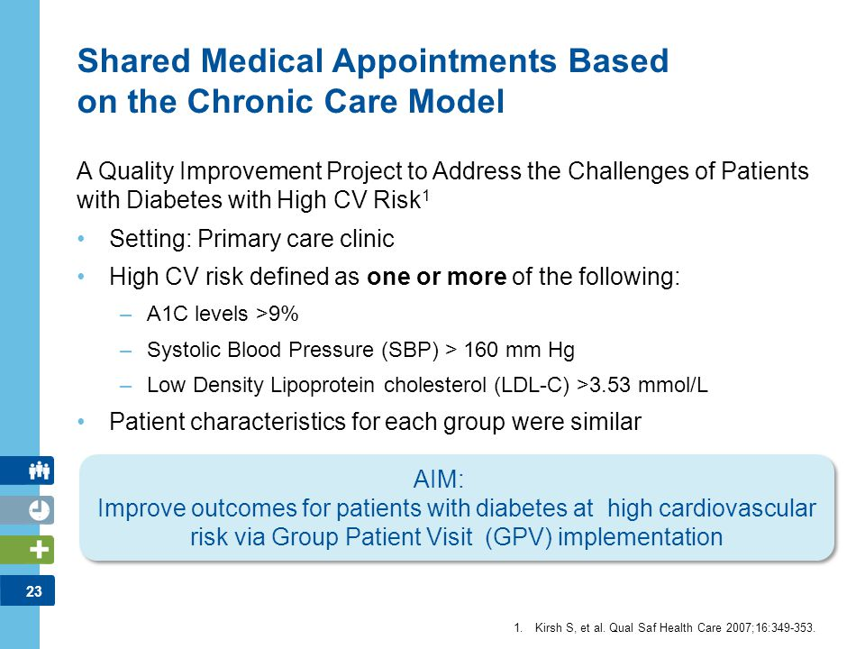 Shared Medical Appointments Based on the Chronic Care Model