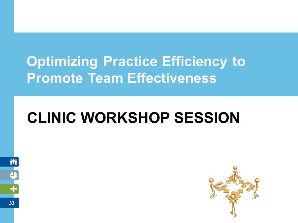 Optimizing Practice Efficiency to Promote Team Effectiveness