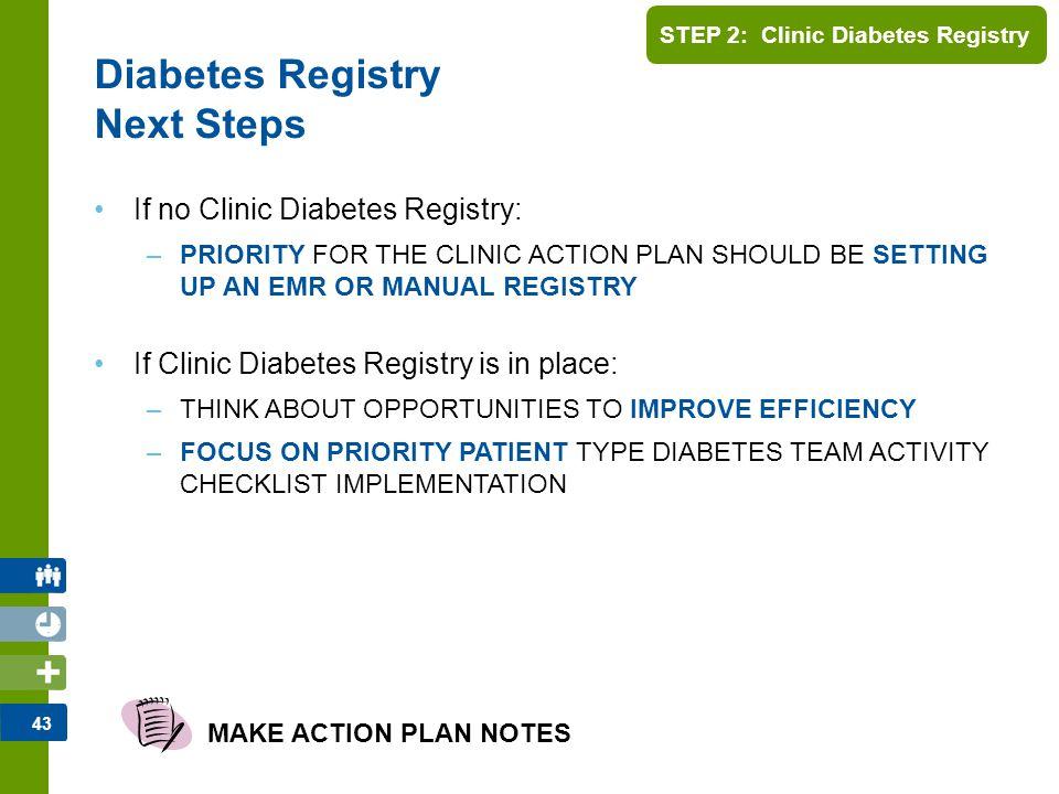 Diabetes Registry Next Steps