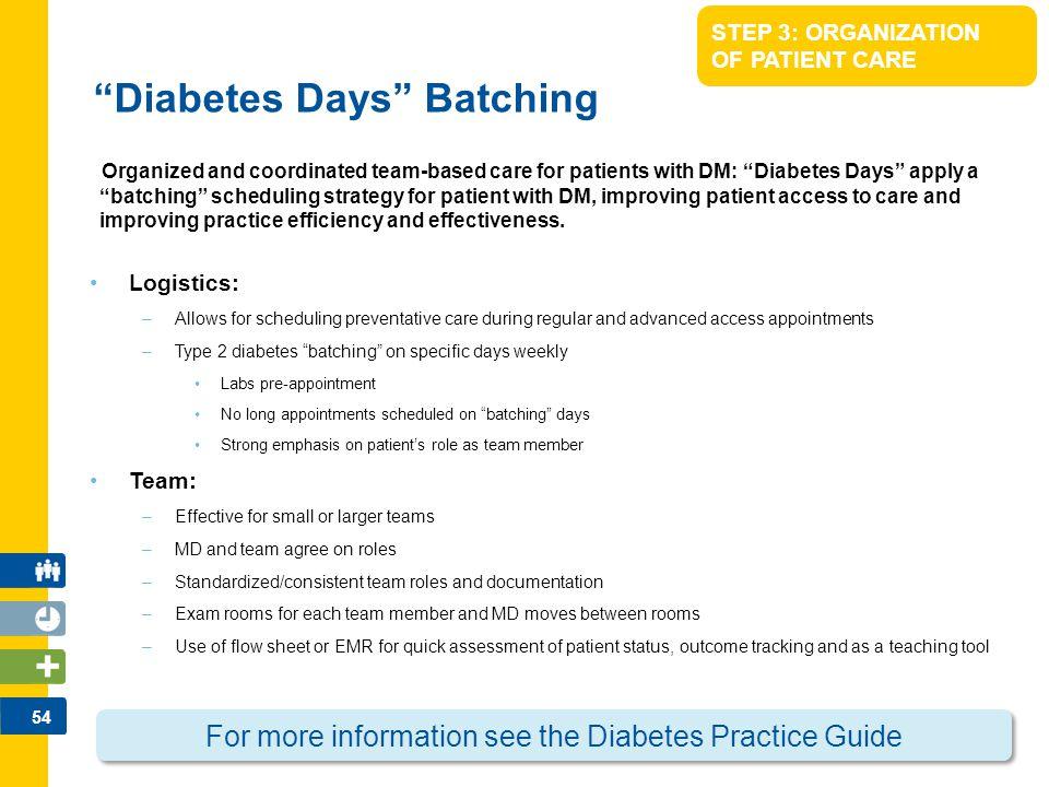 Diabetes Days Batching