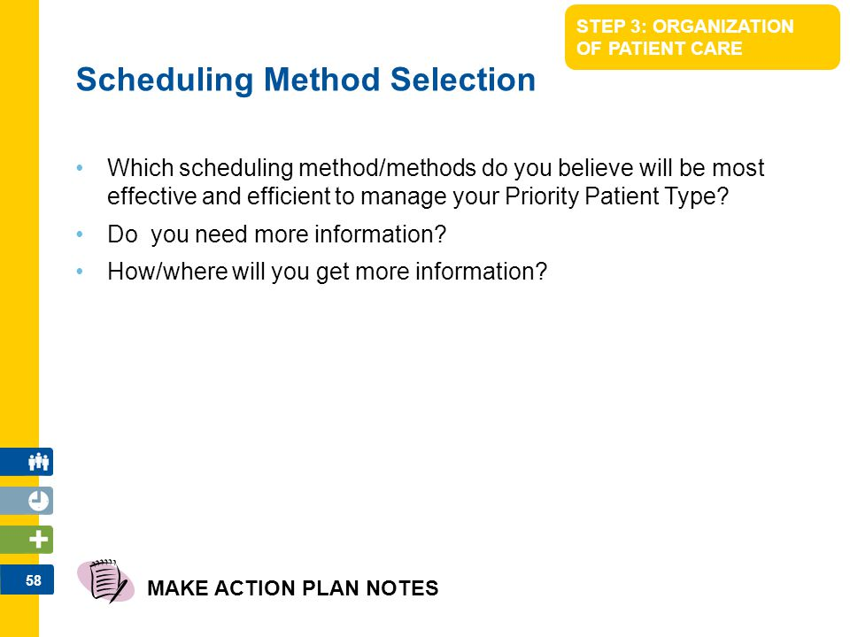 Scheduling Method Selection