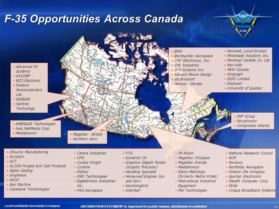 F-35 Opportunities Across Canada