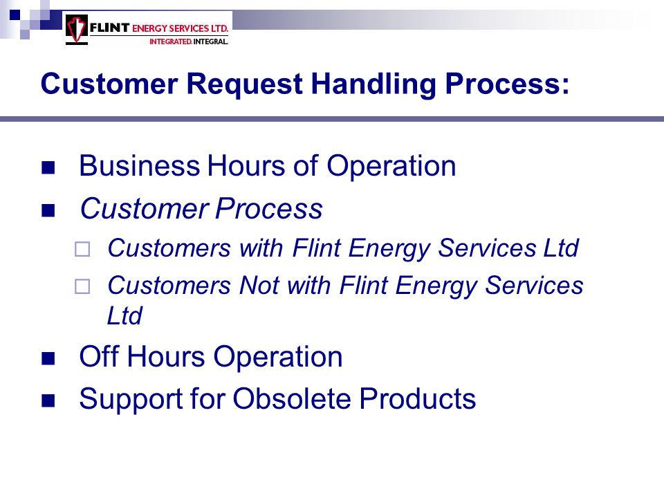 Customer Request Handling Process: