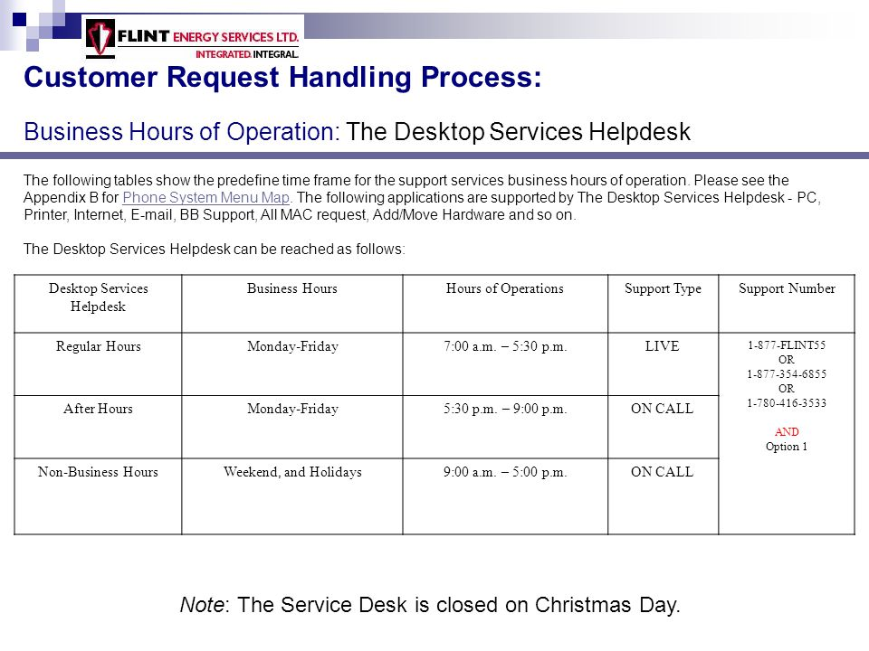 Desktop Services Helpdesk