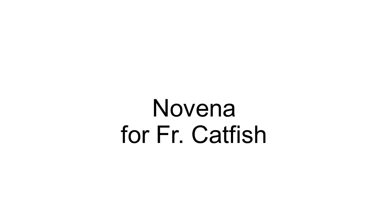Novena for Fr. Catfish