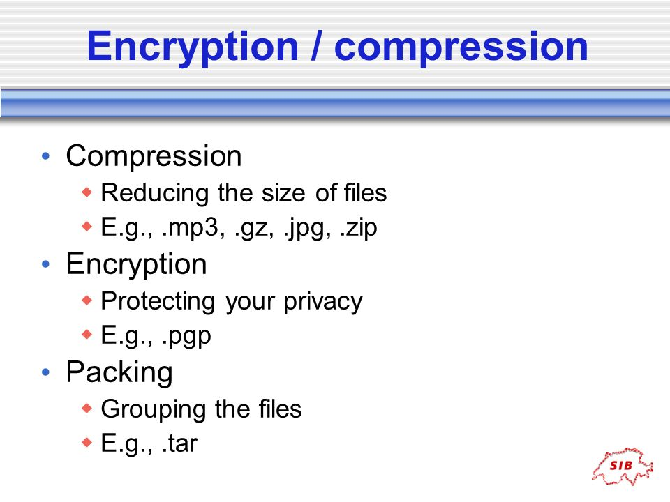 Encryption / compression