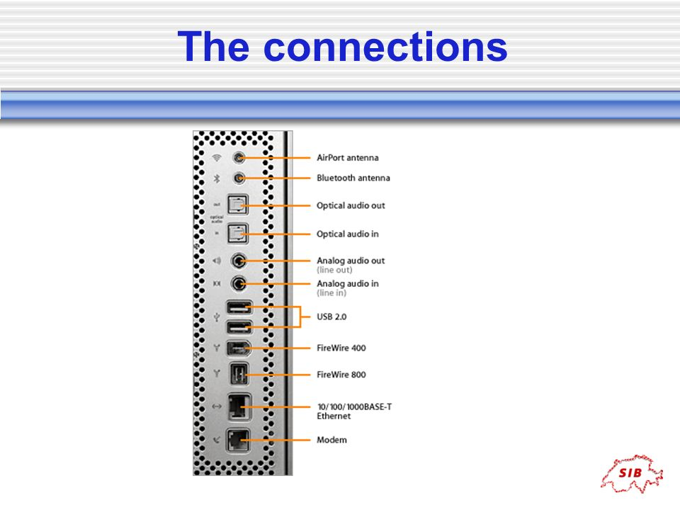 The connections