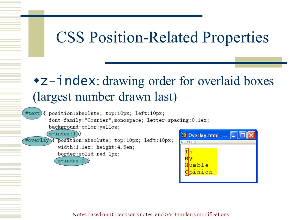 CSS Position-Related Properties