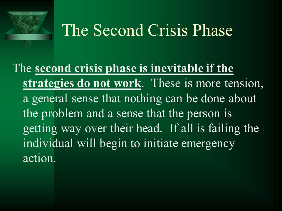 The Second Crisis Phase