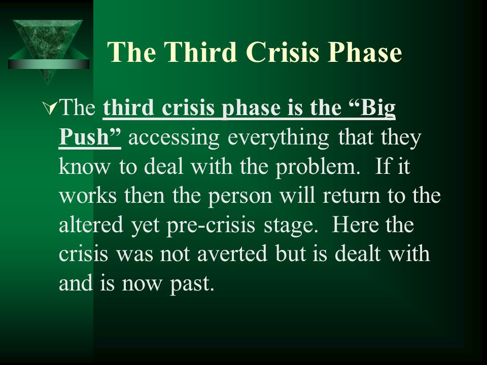 The Third Crisis Phase