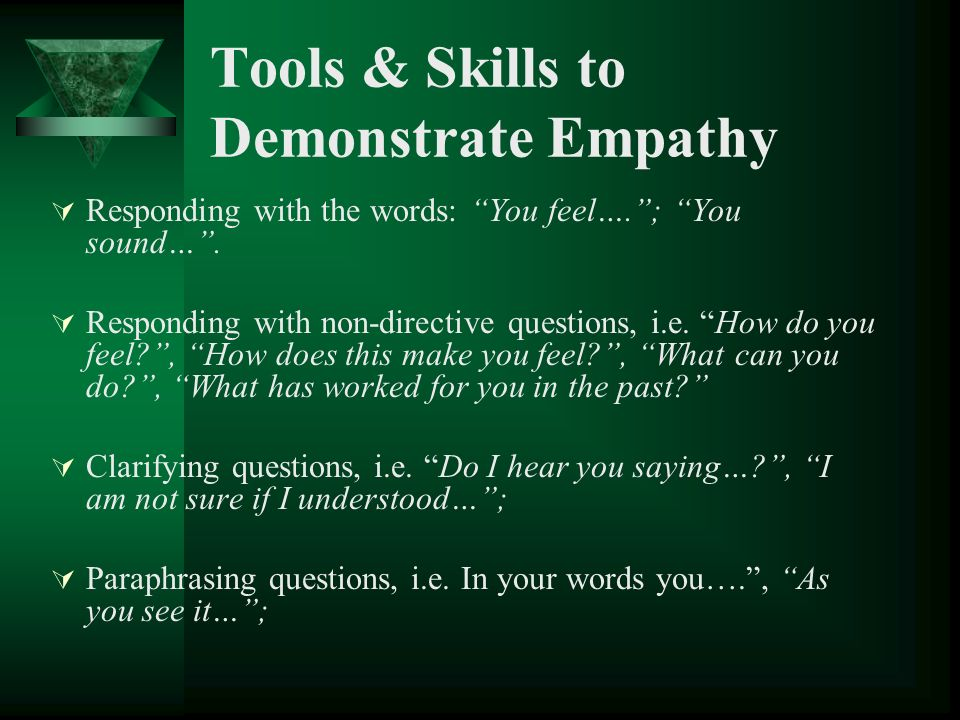 Tools & Skills to Demonstrate Empathy