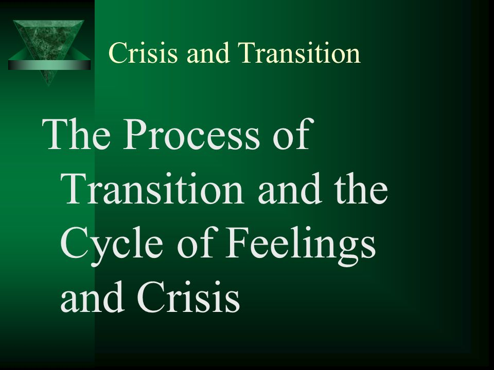 The Process of Transition and the Cycle of Feelings and Crisis