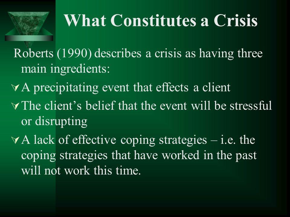 What Constitutes a Crisis