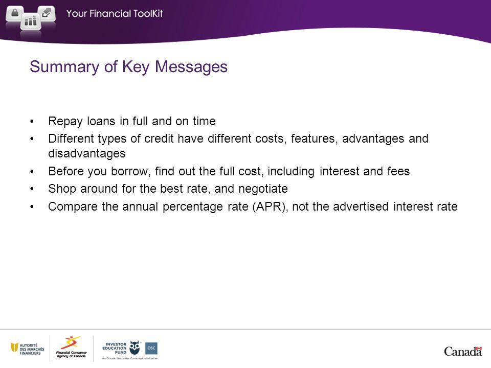Summary of Key Messages