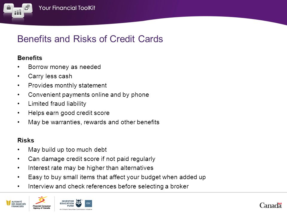 Benefits and Risks of Credit Cards
